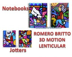 3-D Motion Lenticular Notebooks & Jotters by Romero Britto