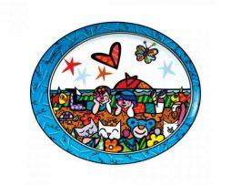 Romero Britto Goebel Porcelain Plate - In the Park