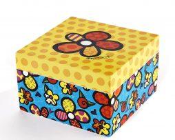 Romero Britto Square Keepsake Box