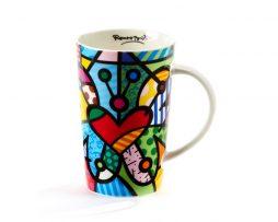 Britto Bone China Mug 13 oz - Butterfly 7 Heart &