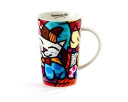 Britto Bone China Mug 13 oz - Cat