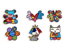 Britto Magnets - 6 assorted designs