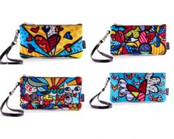 Polyester Wristlet Clutch