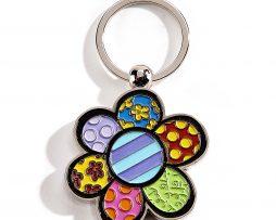 Romero Britto Key Chain - Flower