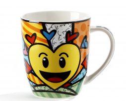 Romero Britto Emoji Design Mug - A New Day
