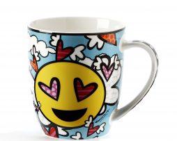 Romero Britto Emoji Design Mug - Flying Heart
