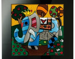 Romero Britto Framed Porcelain - Great India
