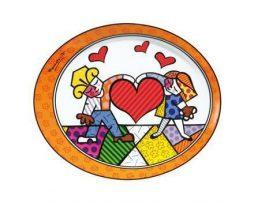 Romero Britto Goebel Porcelain Plate - Heart Kids