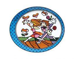 Romero Britto Goebel Porcelain Plate - Love Blossoms