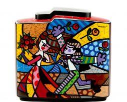 Romero Britto Goebel Porcelain Vase - Follow Me