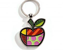 Romero Britto Key Chain - Apple