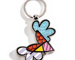 Romero Britto Keychain - Flying Heart
