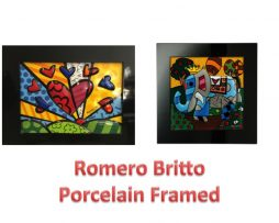 Britto Porcelain Framed