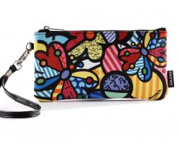 Romero Britto Wristlet Clutch - Butterflies & Flowers