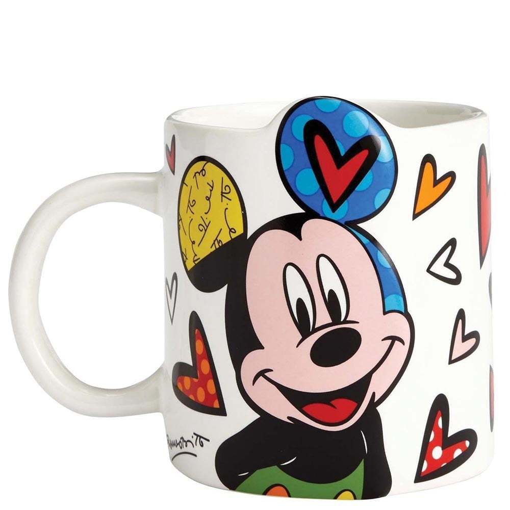 Mickey Mouse Mug By Romero Britto Artreco