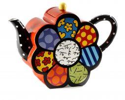 Romero Britto Ceramic Teapot - Flower 60 oz