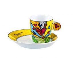 Romero Britto Goebel Espresso Cup & Saucer Set - A New Day