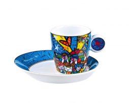 Romero Britto Goebel Espresso Cup & Saucer Set - In the Park