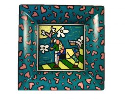 Romero Britto Goebel Porcelain Bowl - Dancer (16 cm x 16 cm)