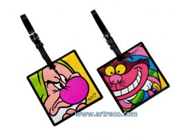 Grumpy & Cheshire Cat Luggage tags