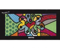 Romero Britto Beach Towel - Butterfly Heart