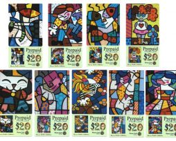 Romero Britto Collection of 9 Phone Cards