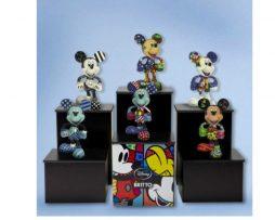 Romero Britto Disney Comlete of Set of 6 Mini Mickey Figurines