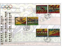 Romero Britto Jumbo FDC - Sport for Peace - The XXIX Olympics (Beijing 2008)