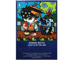Romero Britto Poster (2008) - Love is in the Air (Galerie Ficher Rohr)