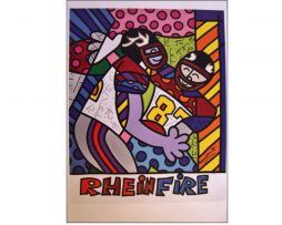 Romero Britto Rhein Fire NFL Europe Poster