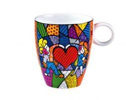 Romero Britto by Goebel High Porcelain Mug – Heart Kids