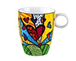 Romero Britto by Goebel High Porcelain Mug - A New Day