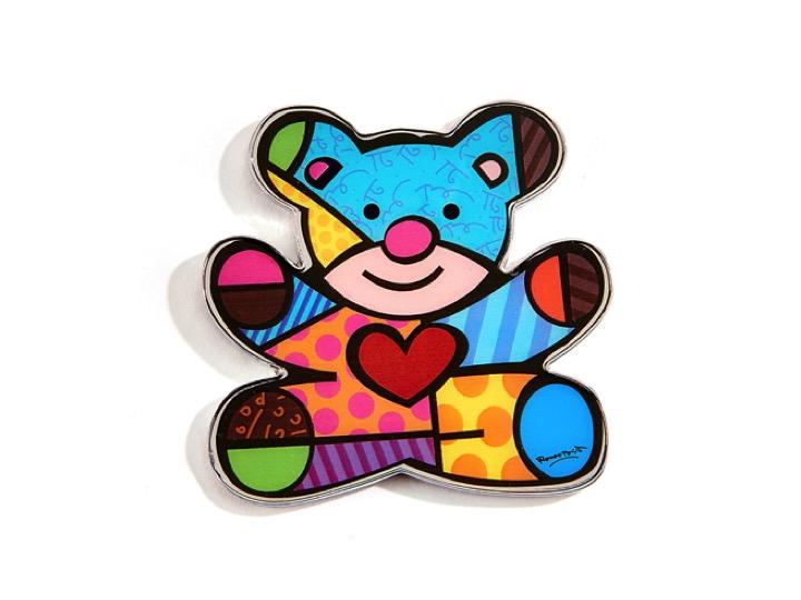 Romero Britto Alloy Magnet Teddy Bear Design Artreco