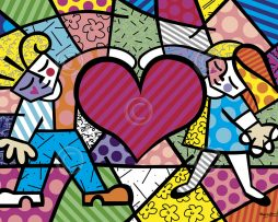 "d8ed1021d ""Heart Kids"" Medium Prints by Romero Britto"
