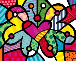 "555226cdf ""Heart Butterfly"" Medium Prints by Romero Britto"
