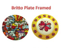 Britto Special Edition Plate Framed