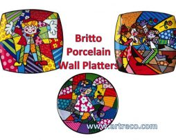 Britto Porcelain Wall Plates
