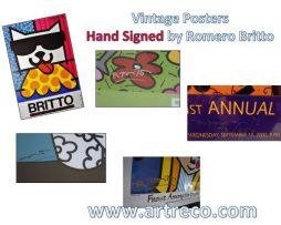 Vintage Romero Britto Posters Hand Signed by Romero Britto