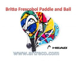 Romero Britto a Paddle with a Ball by HEAD